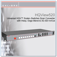 HQView 520 | 8 Input Scaler with with 3G-SDI In Full Warp and Edge Blend